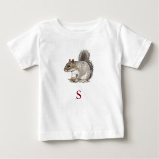 S Is For Squirrel Baby T-Shirt
