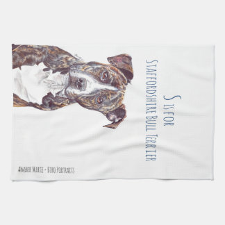 S is for Staffordshire Bull Terrier Towels