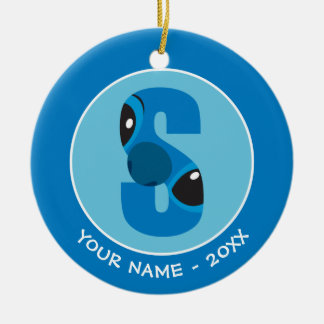 S is for Stitch | Add Your Name Christmas Ornament