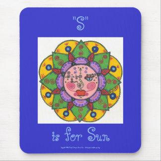 S is for Sun -Mousepad (cobalt blue) Mouse Pad