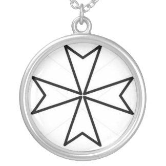 S. Joannis Hierosolymitami Melitae Encolpium Round Pendant Necklace