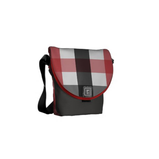 S.K.: Nuevo Plaid Messenger Bag