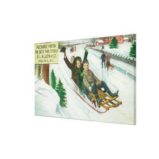 S L Allen & Co Flexible Flyer Sled Stretched Canvas Print