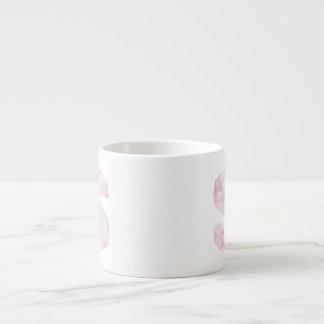 S - Low Poly Triangles - Neutral Pink Purple Gray Espresso Mug