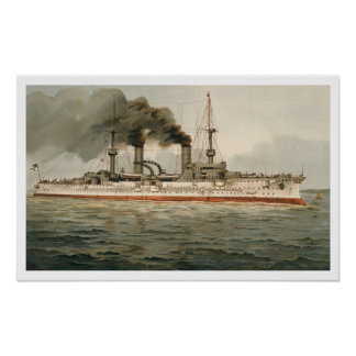 S M Grosse Kreuzer Furst Bismarck H M Great C Print