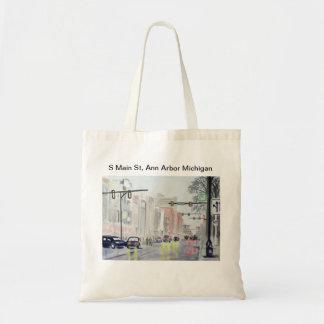 S Main St, Ann Arbor Michigan Tote Bag