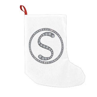 S monogram bling Christmas stocking