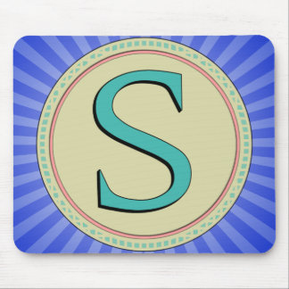 S MONOGRAM LETTER MOUSE PAD