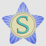 S MONOGRAM LETTER STAR STICKER