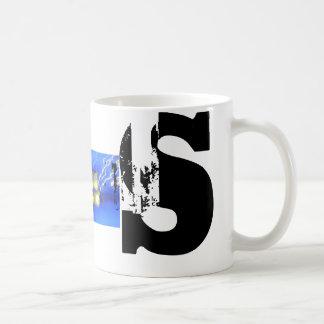 S Monogram Typographic grunge Mug