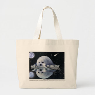 S.O.S. SAVE OUR HARP SEALS LARGE TOTE BAG