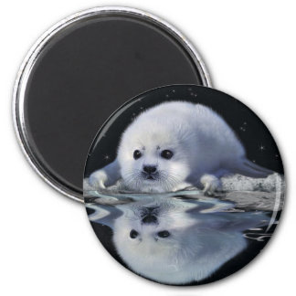 S.O.S. SAVE OUR HARP SEALS MAGNET