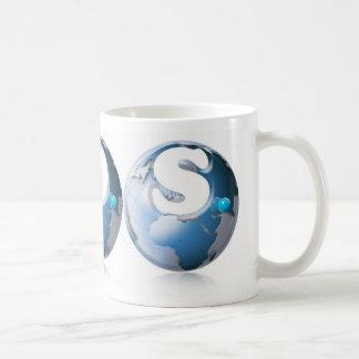 S.O.S. World globe Basic White Mug