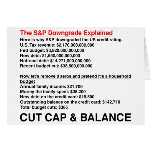 S&P Downgrade Explained Cards