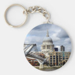 S Paul's Cathedral-Millennium Bridge-London Keychains
