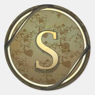 s round sticker
