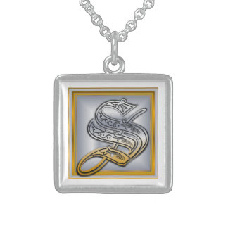 S Royal Initial Monogram Necklace Pendants
