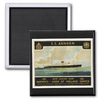 S.S. Arnhem - Luxury Liner - Holland Square Magnet