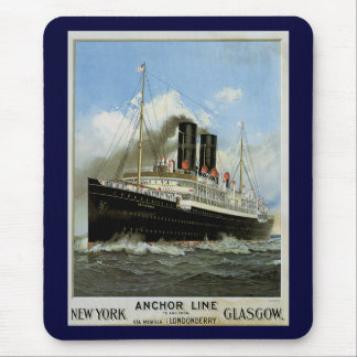 S.S. Caledonia - New York to and from Glasgow Mouse Pad