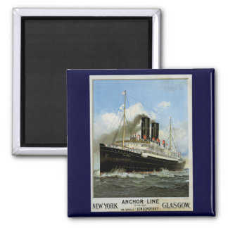 S.S. Caledonia - New York to and from Glasgow Square Magnet