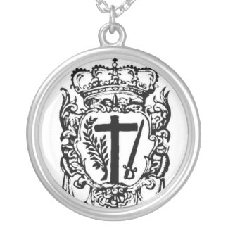 S.S. Congregationis Sancti Officii Encolpium Round Pendant Necklace