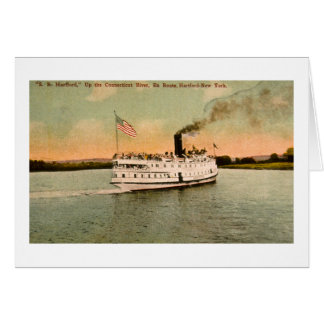 S.S. Hartford up the Connecticut River Greeting Card