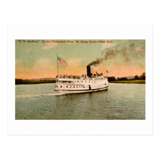 S.S. Hartford up the Connecticut River Post Cards