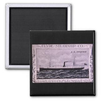 S.S. Iroquois Vintage U.S. Military Steamship Square Magnet