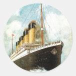 S.S. Titanic at Sea Round Sticker