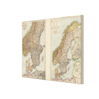 S Scandinavia, Norway, Sweden Canvas Print