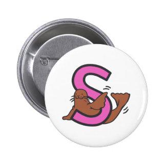 S Seal 6 Cm Round Badge