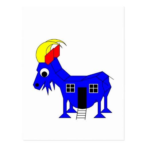 s She Goat - Playhose Draft Post Card