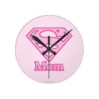 S-Shield Mom Round Wall Clock