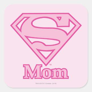 S-Shield Mom Square Stickers