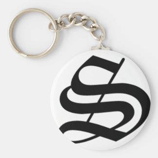 S-text Old English Key Ring