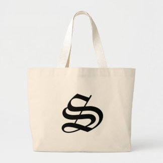 S-text Old English Large Tote Bag
