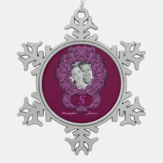 S - The Falck Alphabet Pink Ornaments
