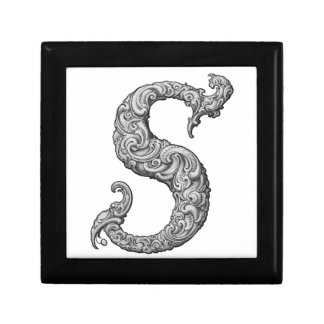 S - The Falck Alphabet (Silvery) Jewelry Boxes