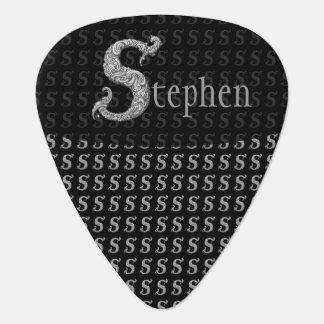 S - The Falck Alphabet (Silvery) Plectrum