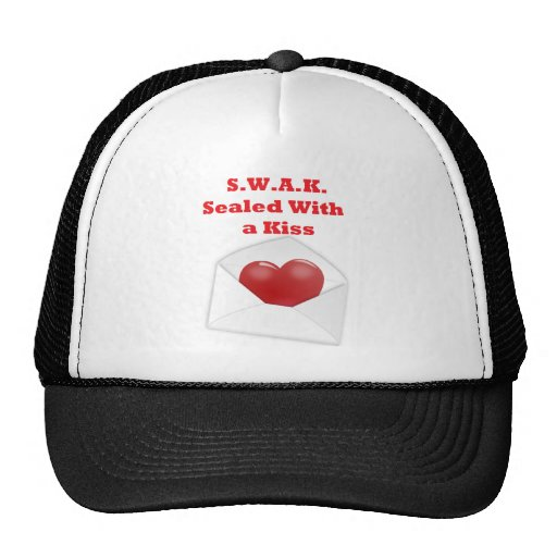S.W.A.K.  Sealed With a Kiss Trucker Hats