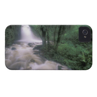 SA, Peru, S.H. Machu Picchu, Cascade and cloud iPhone 4 Case-Mate Case