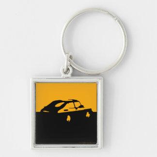 Saab 900 SPG/Aero - Yellow on dark bkgd keychain