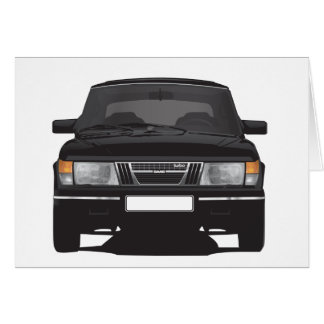 Saab 900 turbo (black) card