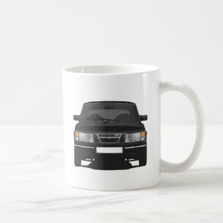 Saab 900 turbo (black) coffee mug