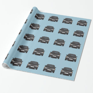 Saab 900 turbo (black) wrapping paper