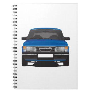 Saab 900 turbo (blue) spiral note book