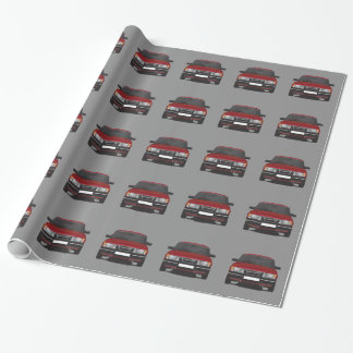 Saab 900 turbo (red) wrapping paper