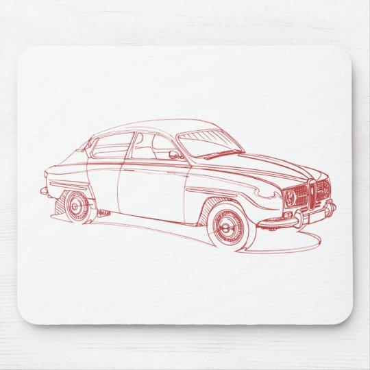 Saab 96 1967 mouse mat