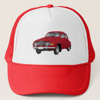 Saab 96 red trucker hat