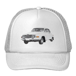 Saab 96 white trucker hat